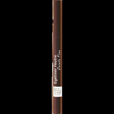 Eyeliner feutre pointe fine brun design 436 MISS DEN, nu
