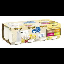 Malo Yaourt Au Lait Entier Panachés Coco, Vanille, Citron, Framboise , , 3 ,7 % De Mg, X8, 1kg