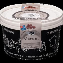 Crème glacée au marron LA BELLE AUDE, pot de 367g