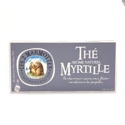 Thé Myrtille LES 2 MARMOTTES 30 sachets 60g