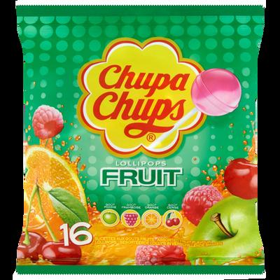 Sucettes aux goûts fruits CHUPA CHUPS, sachet de 192g