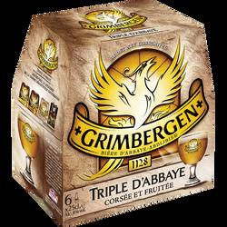 Bière arômatisée à la coriandre GRIMBERGEN triple, 8° 6 bouteilles de25cl