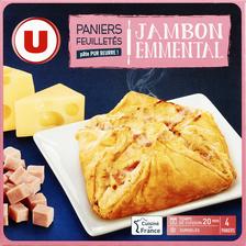 Paniers feuilletés jambon fromage U, 4x100g