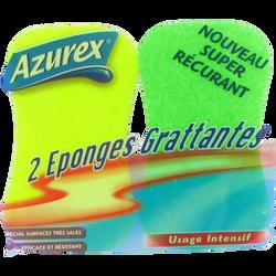 Éponges grattantes fluo AZUREX, x2