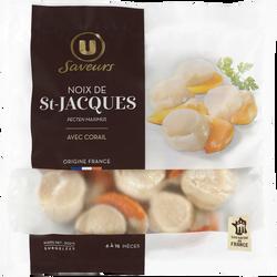 Noix de St Jacques France surgelés avec corail Saveurs U, 300g