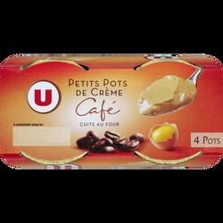 Desserts lactés à la crème aux oeufs frais saveur café U, 4x100g
