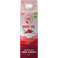 Thé blanc infusé goji grenade BIO UNI TEA, brique de 1l