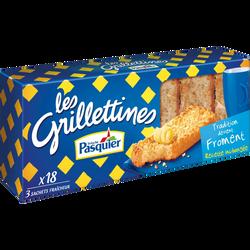 Grillettines au froment PASQUIER, paquet de 242g