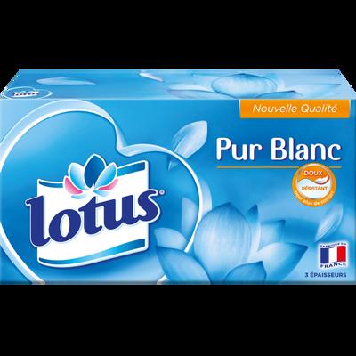 Mouchoirs blancs extrait de Lotus LOTUS, boîte de 90
