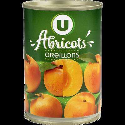 Abricots au sirop léger U, boîte de 235g
