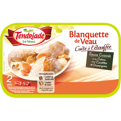 Blanquette de veau cuisinée, TENDRIADE, barquette, 350g