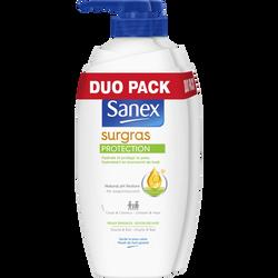 Douche surgras protection corps & cheveux peaux sensible SANEX, 2X750ml
