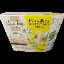 Farfalles aux fromages italiens, bio, SAINT JEAN, 300g