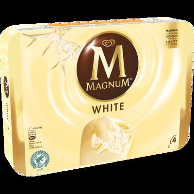 MAGNUM chocolat blanc, 4 unités, 316g