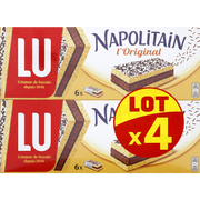 LU Napolitain Individuel Classic Lu, Paquet 4x180g, 720g
