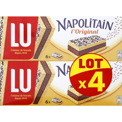 Napolitain individuel classic LU, paquet 4x180g, 720g