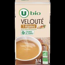 Velouté 7 légumes  bio U,  brique de 1 litre