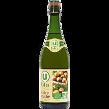 Cidre bouché U BIO 4,5°,bouteille 75cl