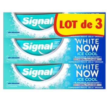 Signal Dentifrice White Now Ice Cool Mint Signal, Tube 3x75ml