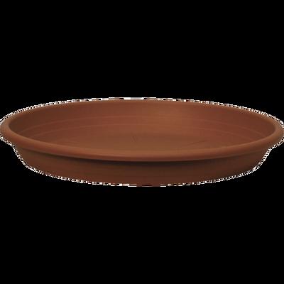 Soucoupe CILINDRO, diamètre 17cm, en plastique, terre cuite