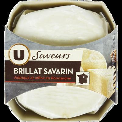 Brillat Savarin au lait pasteurisé U SAVEURS, 38% de MG, 200g