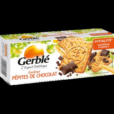 Biscuits aux pépites de chocolat GERBLE, paquet de 250g