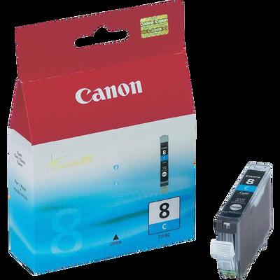 Cartouche d'encre CANON pour imprimante, CLI 8C cyan, sous blister
