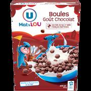 Lou Boules De Céréales Goût Chocolat U Mat & Lou, 375g