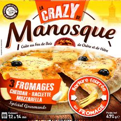 Pizza crazy tout fromage PIZZA DE MANOSQUE, 470g