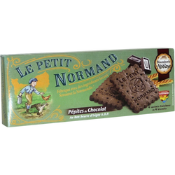 Biscuit Le Petit Normand pépites de chocolat BISCUITERIE DE L'ABBAYE,étui de 140 g