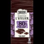 Nestlé Chocolat Noir Corsé 80% Les Recettes De L'atelier Netsle, Tablette De100g