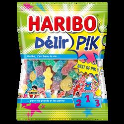 Bonbons gélifiés acides Delir' Pik HARIBO, sachet de 275g
