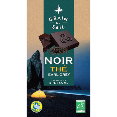 Chocolat noir the earl grey BIO GRAIN DE SAIL, tablette de 100g