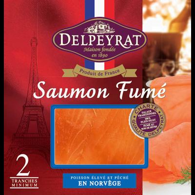 Saumon fumé supérieur Norvège DELPEYRAT, 2 tranches soit 65g