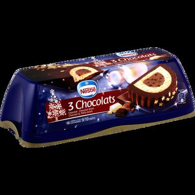 Bûche glacée 3 chocolats NESTLE, 540g