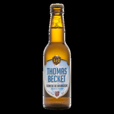 Bière blanche THOMAS BECKET 4.1°, bouteille de 33cl