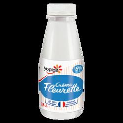 Crème légére fluide fleurette YOPLAIT, 15% de MG, 38cl