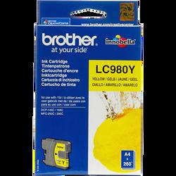 Cartouche d'encre BROTHER pour imprimante, LC980 jaune, sous blister