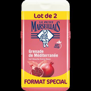 Le Petit Marseillais Gel Douche Extra Doux Parfum Grenade De Méditerranée Le Petit Marseillais, 2x250ml