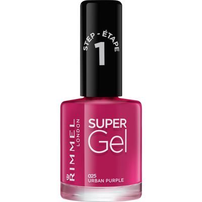 Vernis à ongle super gel urban purple 025 RIMMEL, nu, 12ml