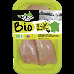 Escalope cuisse poulet, Bio, NATURE DE FRANCE, France, 3 pièces