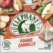 Elephant Infusion Pomme Cannelle , 20 Sachets Pyramide De 36g