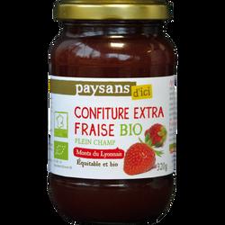 Confiture de fraise du Monts Lyonnais Bio ETHIQUABLE, 320g
