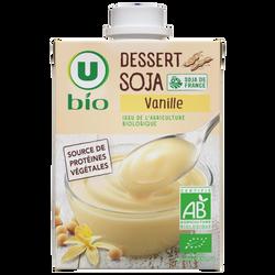 Crème dessert au soja saveur vanille U BIO, brique de 525g