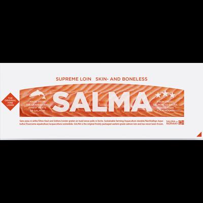 Suprême de saumon frais, Salmo salar, élevé en Norvège, barquette 300g