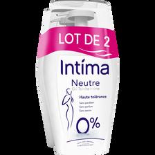 Intima Gel Hygiène Intime Neutre , 2x200ml