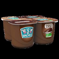 Dessert fondant au chocolat de Tanzanie Bio LES 2 VACHES, 4X125g