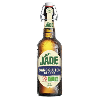 Bière blonde sans gluten JADE, 4,5° biologique, 65cl