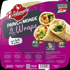 Pain wraps LA BOULANGERE, 6 unités, 370g