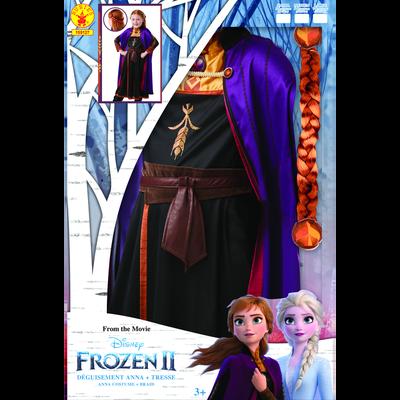 "La Reine des neiges - Panoplie Anna + tresse taille M"""